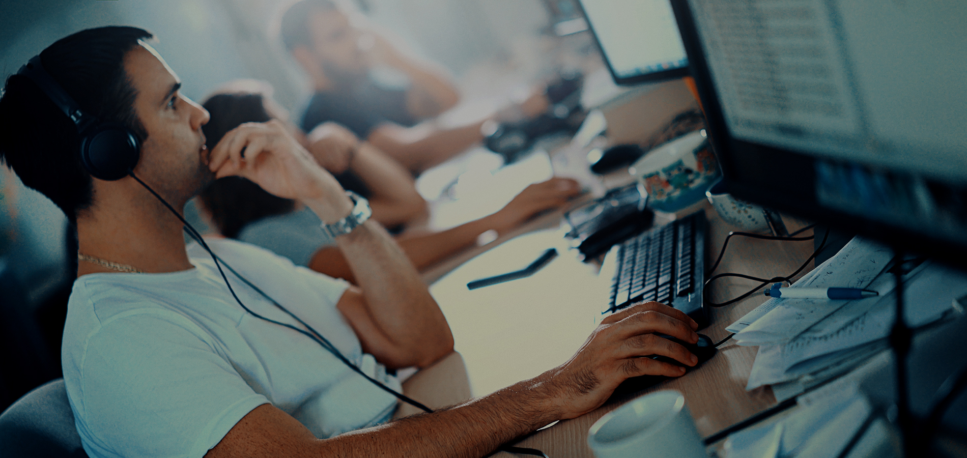 Cyber Slider Image - software developers at work