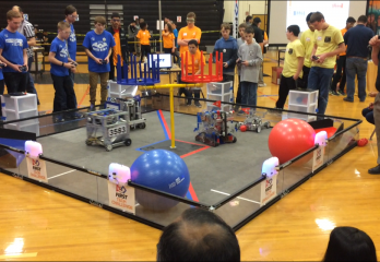 Telophase Cheers for Local High School Robotics Club